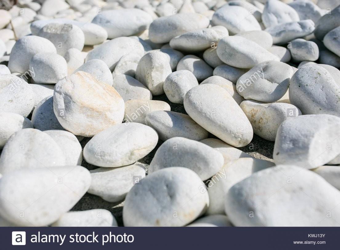 Große Weiße Steine In Einem Garten Stockfoto Bild 170655743  Alamy von Weiße Steine Garten Photo