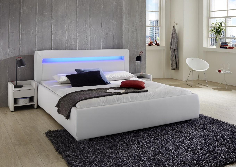 Gunstige Betten 180X200 Mit Lattenrost Und Matratze Bett Komplett von Bett Mit Led Beleuchtung 180X200 Bild
