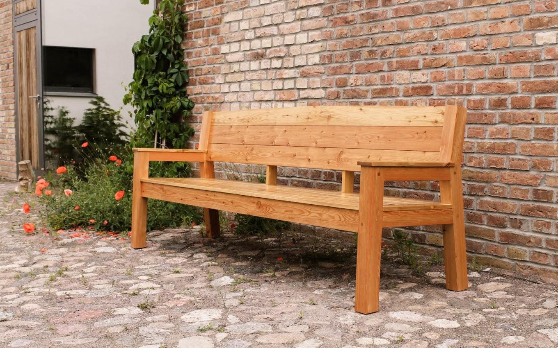 H A U S B A N K │ Sitzbank │ Parkbank │ Gartenbank │ Aus Lärchenholz von Holzbank Für Garten Bild