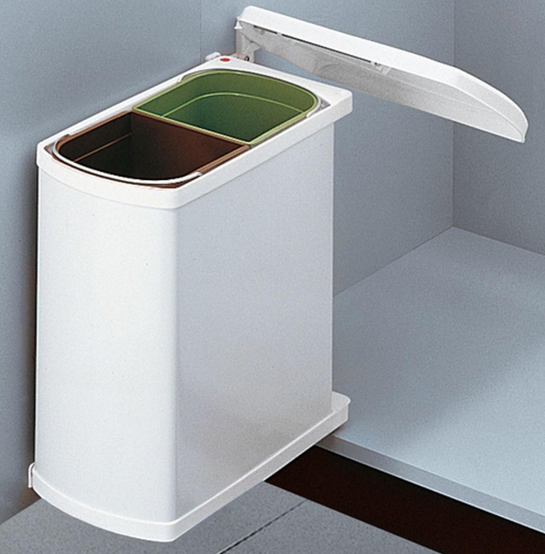 Hailo Duo 45 Küchen Einbau Abfall Mülleimer 2 X 8 Liter 2Fach von Mülleimer Küche Trennung Bild