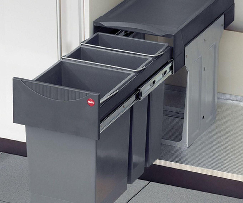 Hailo Profi Terzett Bio Abfallmülleimer Küche 1 X 15 2 X 7 von Bio Mülleimer Küche Bild