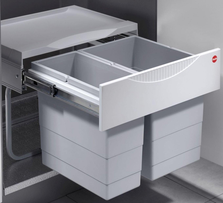 Hailo Raumspar Tandem S Abfall Küchen Mülleimer 2Fach Trennung 30 von Mülleimer Küche Trennung Bild