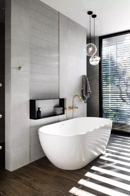 Halb Freistehende Badewanne Luxus Badezimmer Mediterran Frisch von Halb Freistehende Badewanne Photo