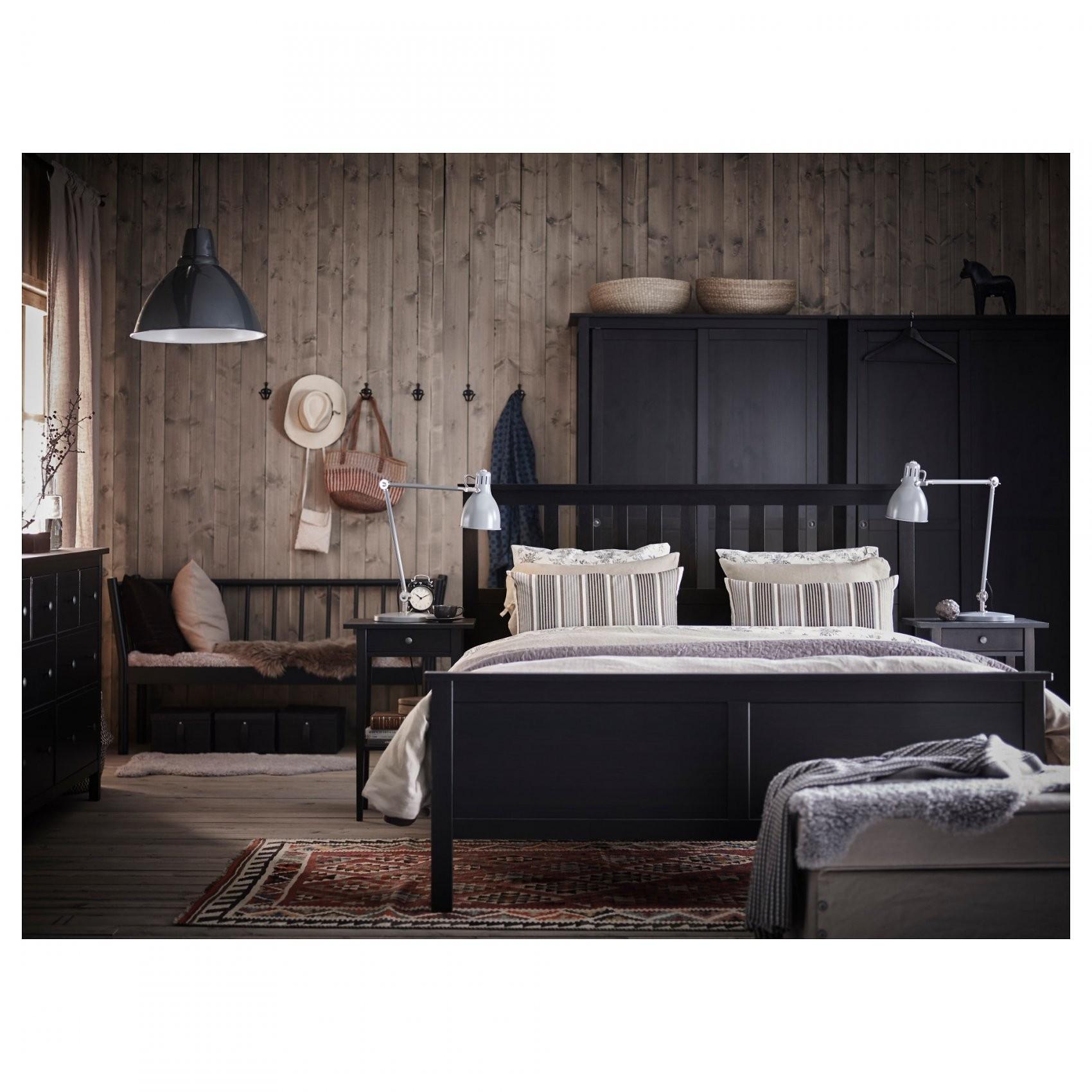 Hemnes Bedframe  160X200 Cm  Witgebeitst  Ikea von Ikea Hemnes Bett 160X200 Bild