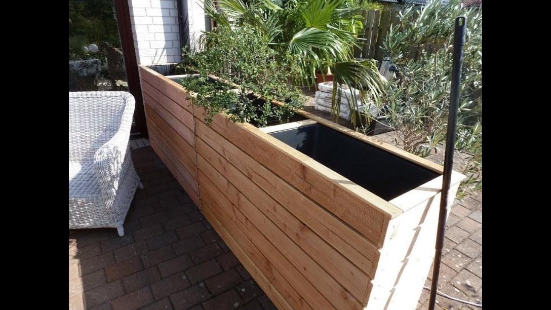 Hochbeet Als Windschutz Oder Sichtschutz Für Terasse Und Garten von Windschutz Terrasse Selber Bauen Bild