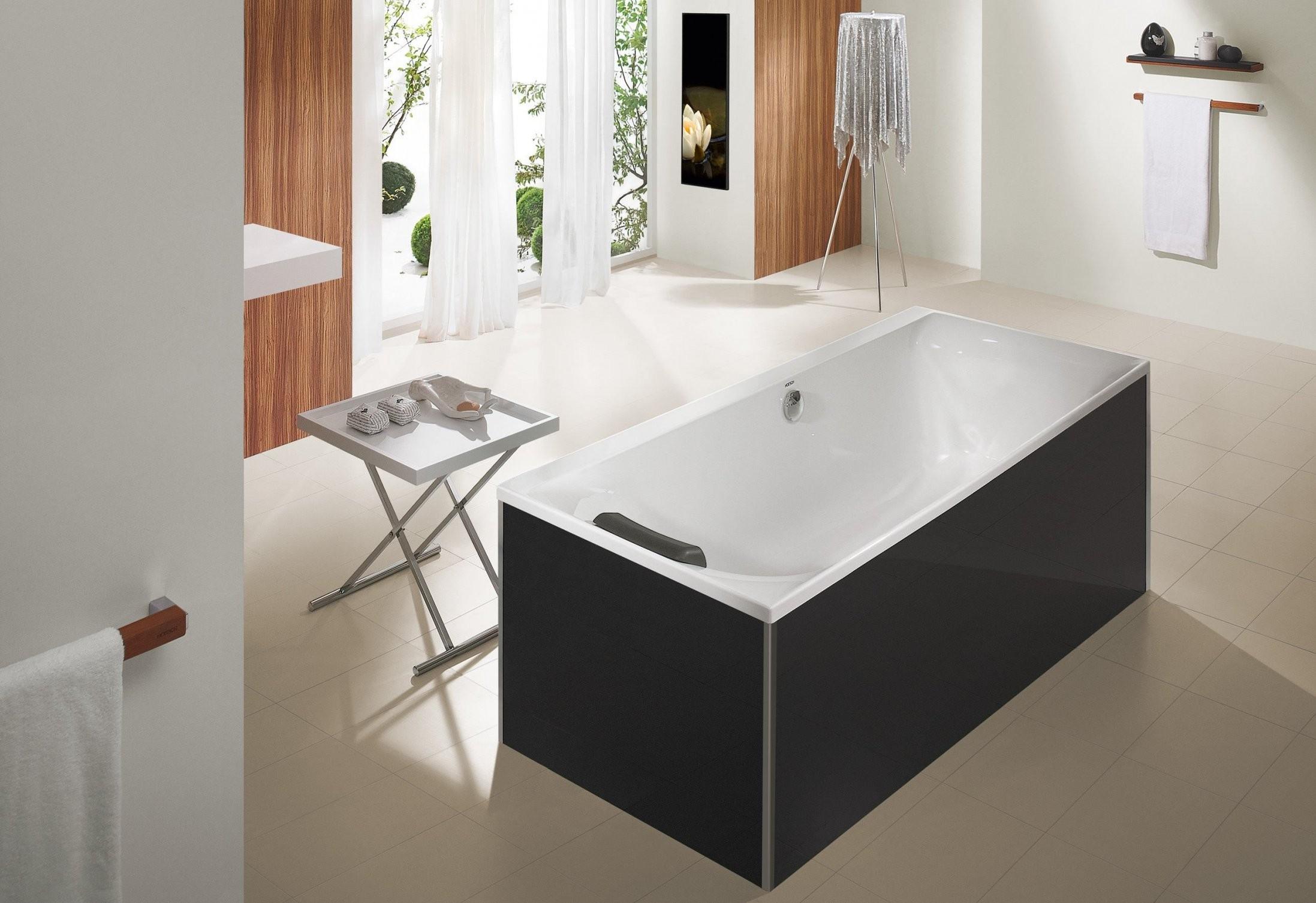 Hoesch Thasos Glasverkleidung Für Freistehende Badewanne (3742 von Freistehende Badewanne Hoesch Bild