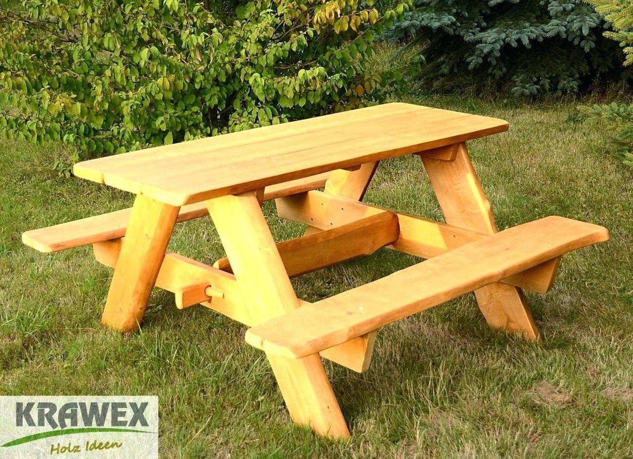 Holzbank Rustikal Charmante Inspiration Tisch Sitzgarnitur Und von Holzbank Garten Rustikal Bild