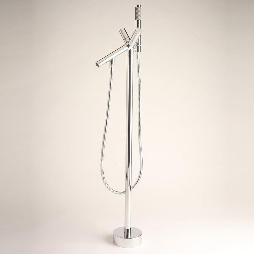 Home Deluxe Design Standarmatur Armatur Freistehend Wannenarmatur von Standarmatur Freistehende Badewanne Bild