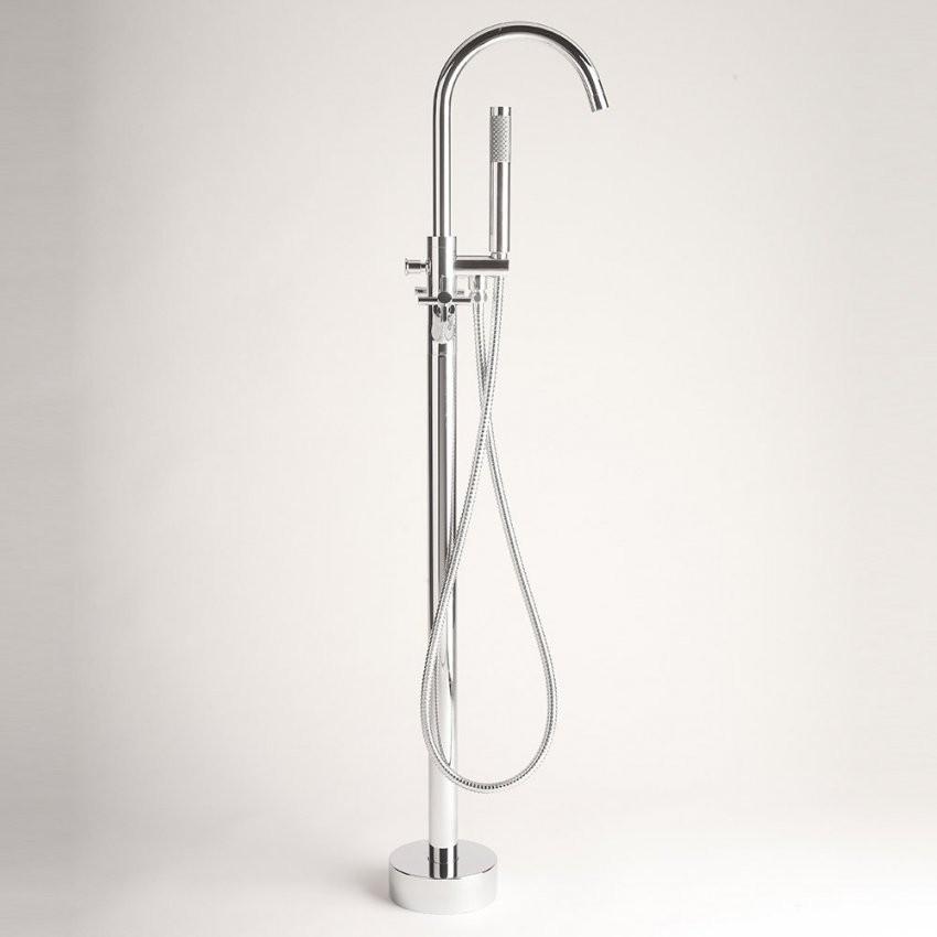 Home Deluxe Design Standarmatur Armatur Freistehend Wannenarmatur von Standarmatur Für Freistehende Badewanne Bild