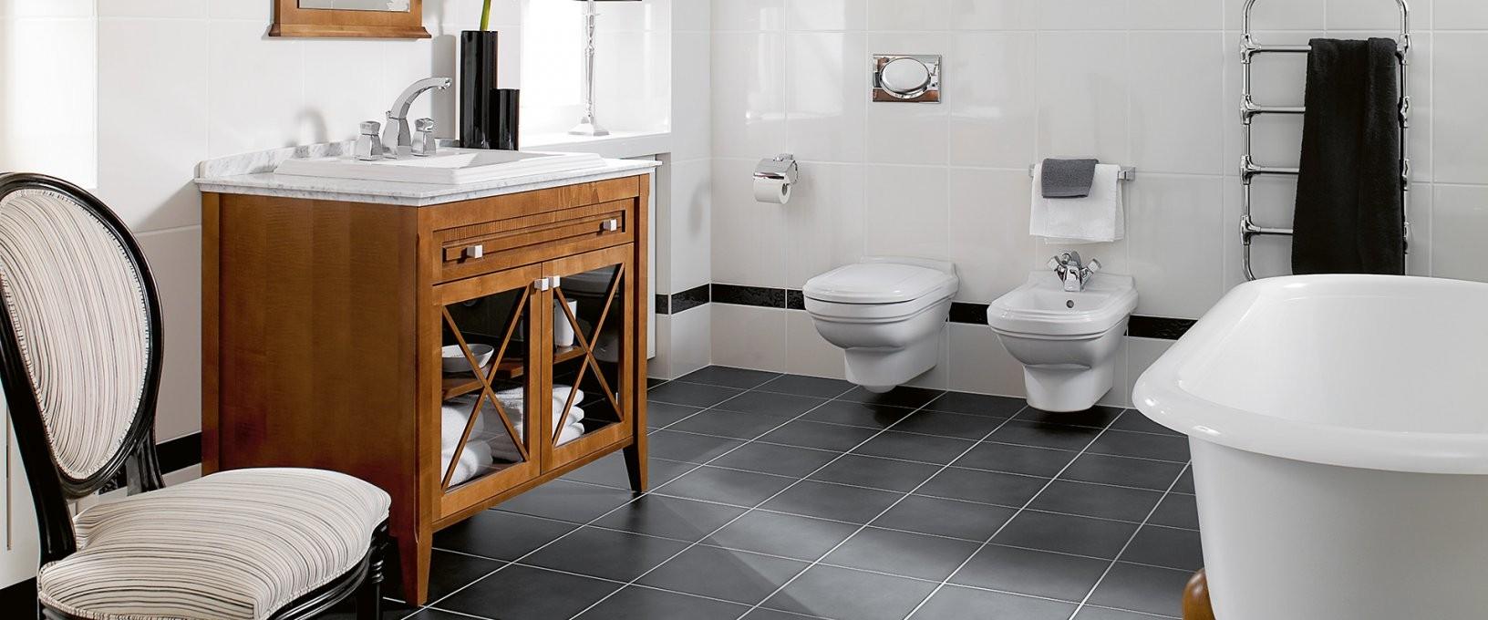 Hommage  Badkollektion Mit Stufenreliefs  Villeroy & Boch von Villeroy Und Boch Bad Waschbecken Bild