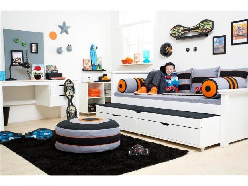 Hoppekids Deluxe Ausziehbett  Gästebett 90X190Cm Weiß  123Moebel von Bett Mit Ausziehbett Und Schubladen Bild