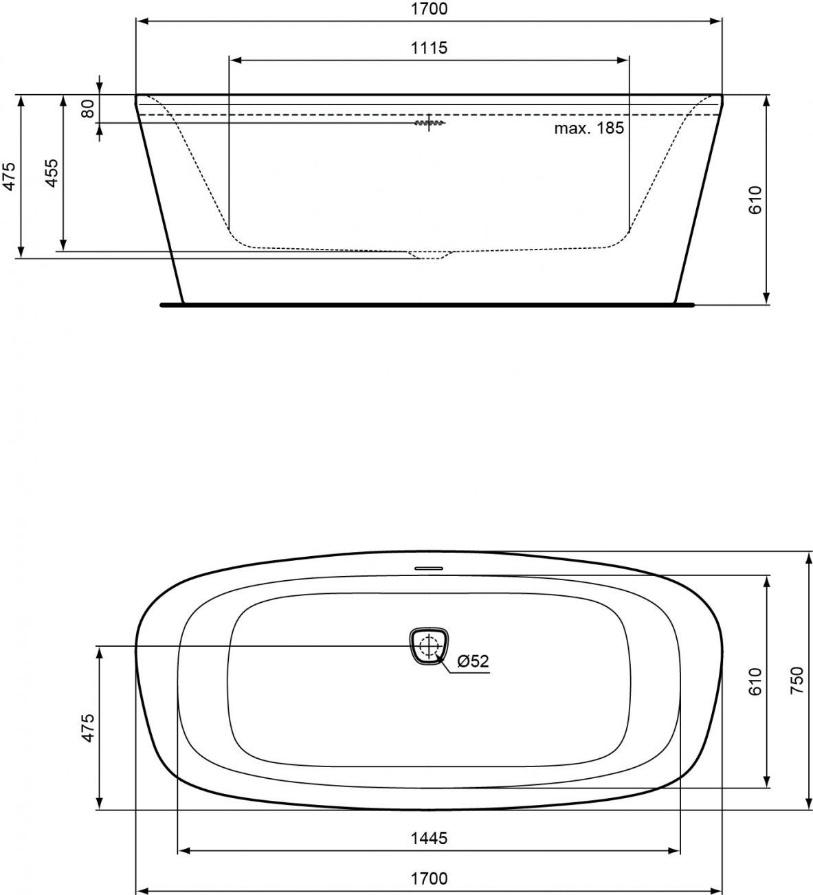 Ideal Standard  Produkt Übersicht von Ideal Standard Freistehende Badewanne Bild