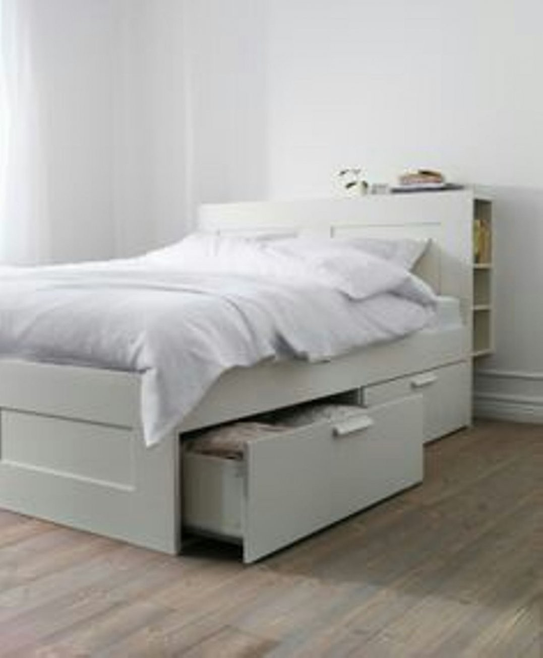Ikea Brimnes Bed Frame 160 X 200 Cm With Storage And Headboard In von Ikea Brimnes Bett 160X200 Photo
