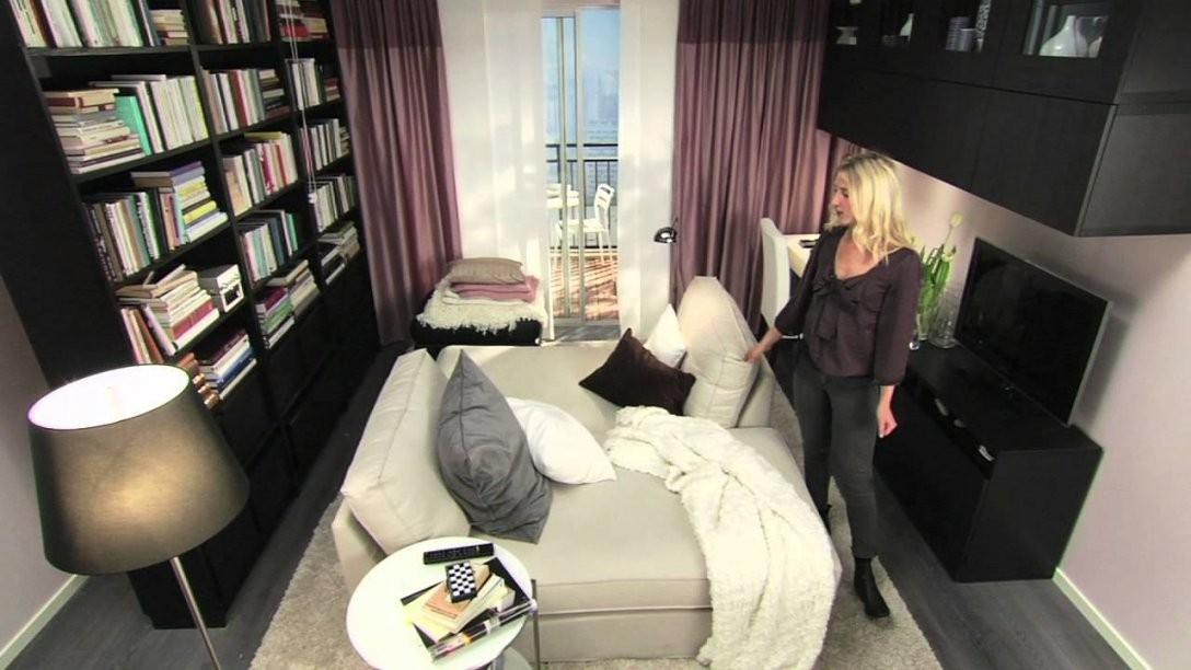 Ikea Für Kleine Räume 10 M² Mehr Zweisamkeit  Youtube von Kleine Räume Einrichten Ikea Bild