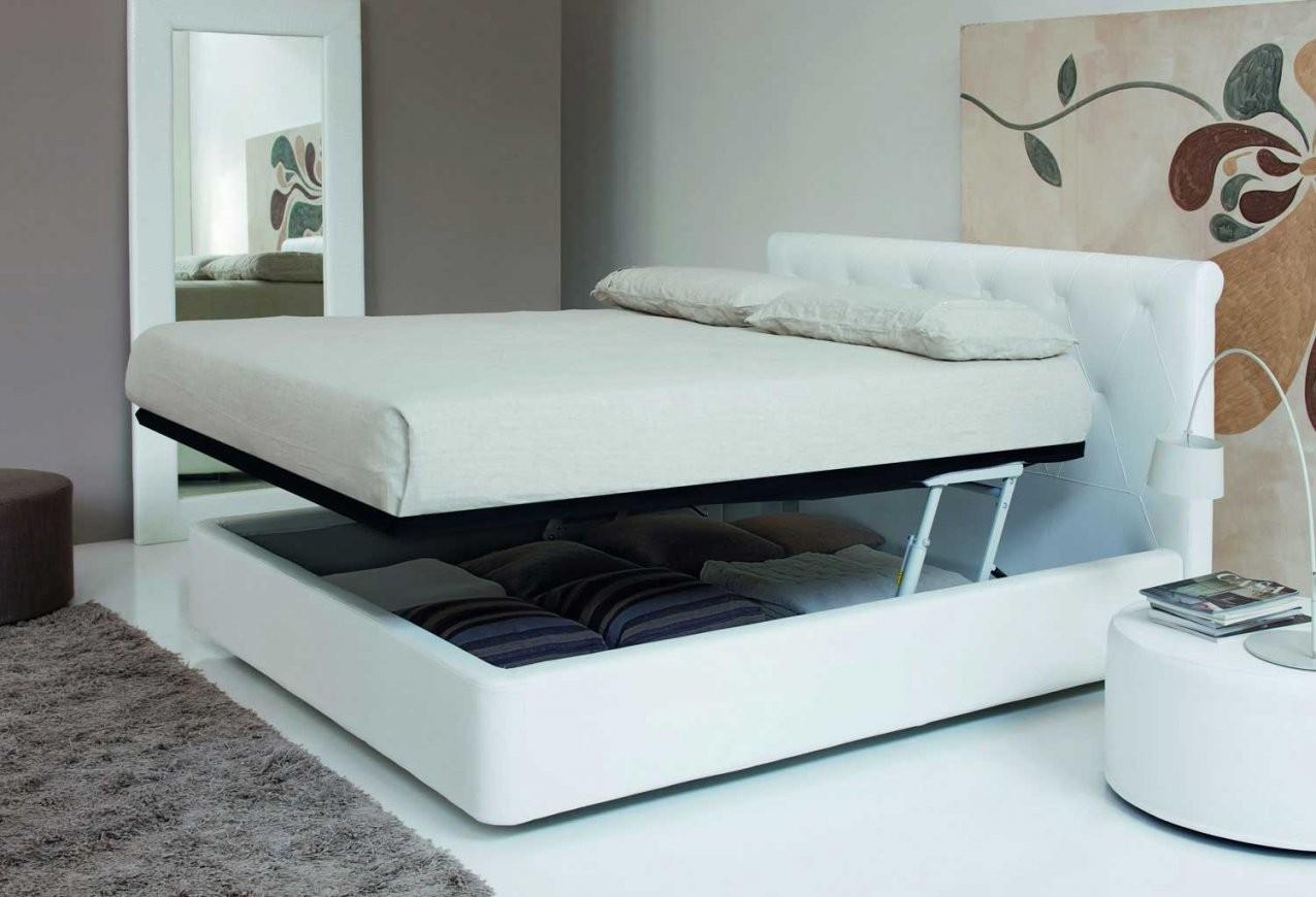 Italienisches Lederbett Cordoni  Elegantes Bett Aus Leder Aus Italien von Polsterbett Mit Bettkasten Leder Photo