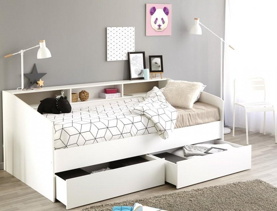Jugendbett Selby 1 Weiß 90X200 Kojenbett Kinderbett 2X Bettkasten von Jugendzimmer Bett Mit Bettkasten Bild