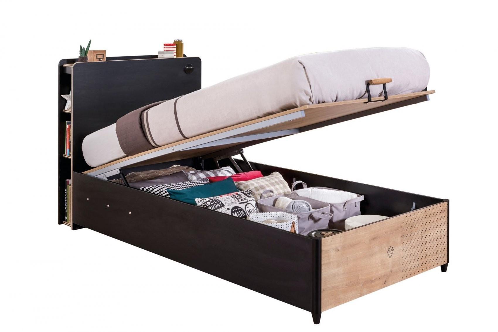 Jugendzimmer Black Bett Mit Bettkasten  Kinder Komfort von Jugendzimmer Bett Mit Bettkasten Photo