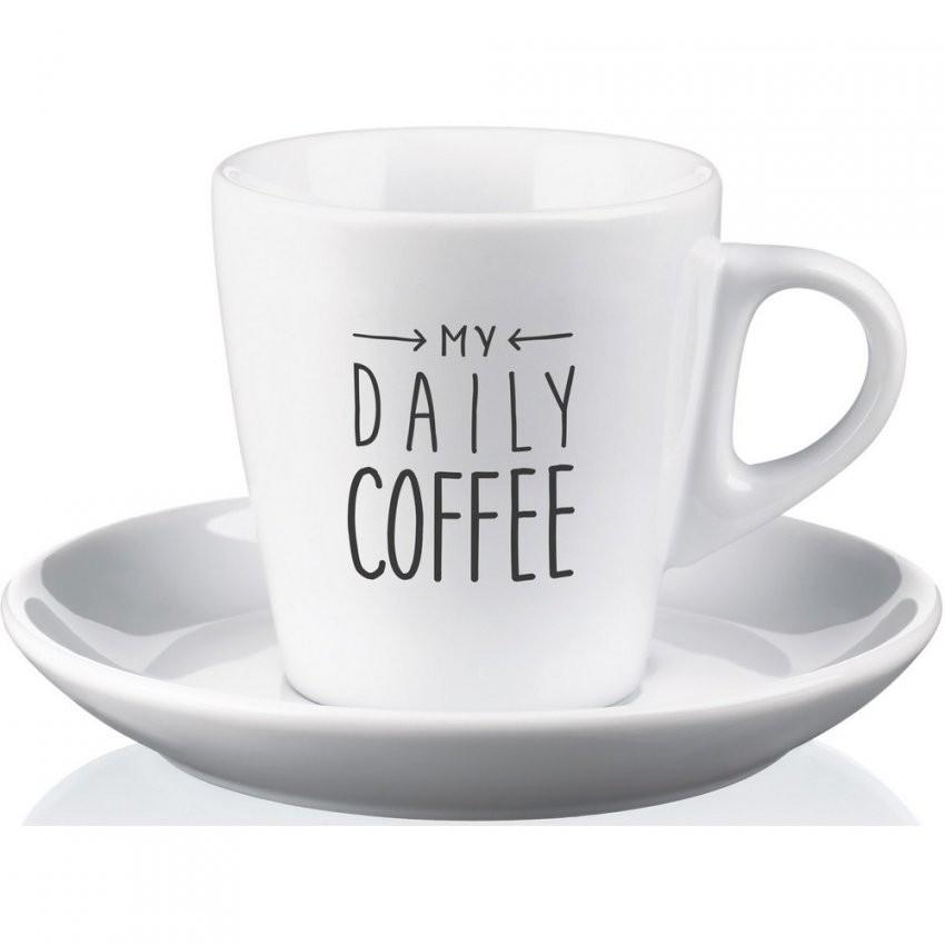 Kaffeetassenset Pura  Weiß  Porzellan  Werbeartikel Von Absatzplus von Kaffeetassen Set Günstig Bild