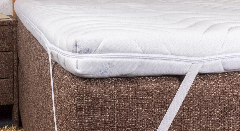 Kaltschaumtopper Fest Mit Milbendichtem Bezug  Betten von Matratzen Topper Rückenschmerzen Bild