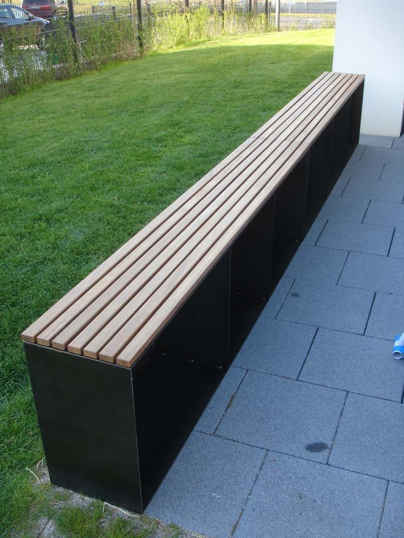 Kaminholz Aufbewahrung Draußen Bank Bestseller 015  Stahlzart von Sitzbank Garten Metall Bild