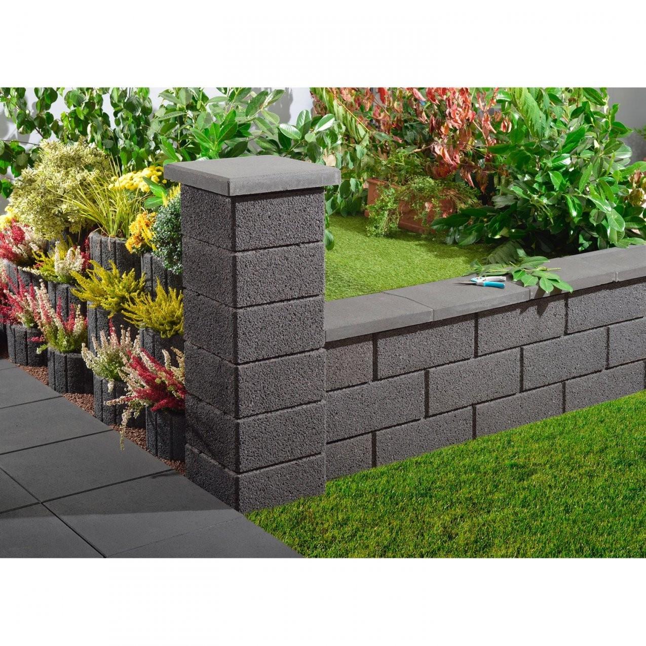 Kann Gartenmauer Normalstein Anthrazit 50 Cm X 20 Cm X 25 Cm Kaufen von Obi Garten Steine Bild