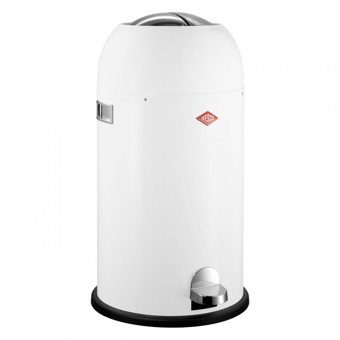 Kickmaster 33 Liter Weiß Mülleimer  Wesco Onlineshop von Mülleimer Küche Wesco Bild