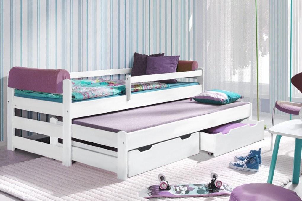 Kinderbett Ausziehbett Doblo Bis 200X90 Cm Inkl Lattenroste Und von Bett Mit Ausziehbett Und Schubladen Bild
