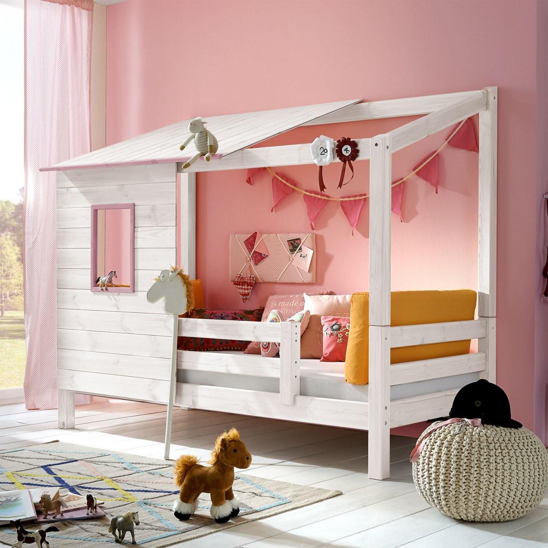 Kinderbetten Mit Seitenschutz Und Rausfallschutz  Betten von Mädchen Bett 120X200 Bild