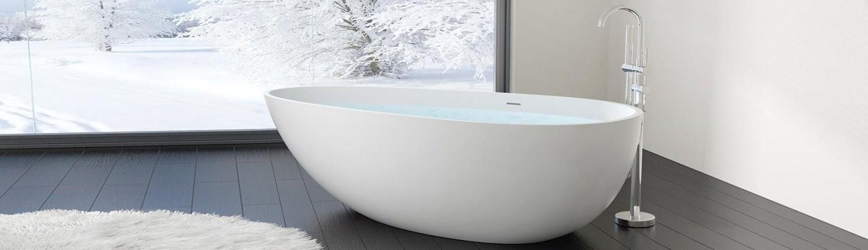 Kleine Freistehende Badewanne Bw03L Aus Mineralguss  Bad von Kleine Freistehende Badewanne Bild