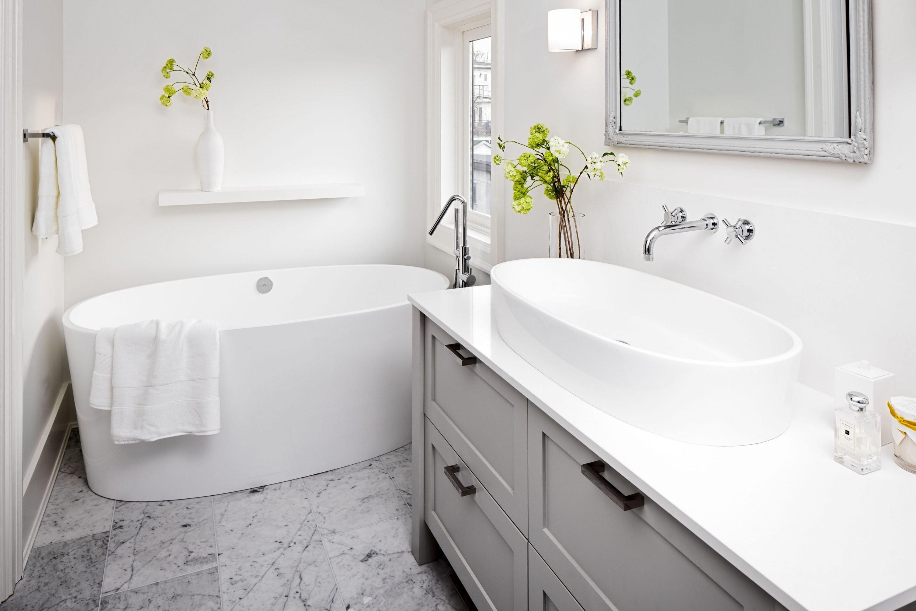 Kleines Bad Mit Wanne  Googlesuche  Bath Black & White Art Deco von Kleines Bad Freistehende Badewanne Bild