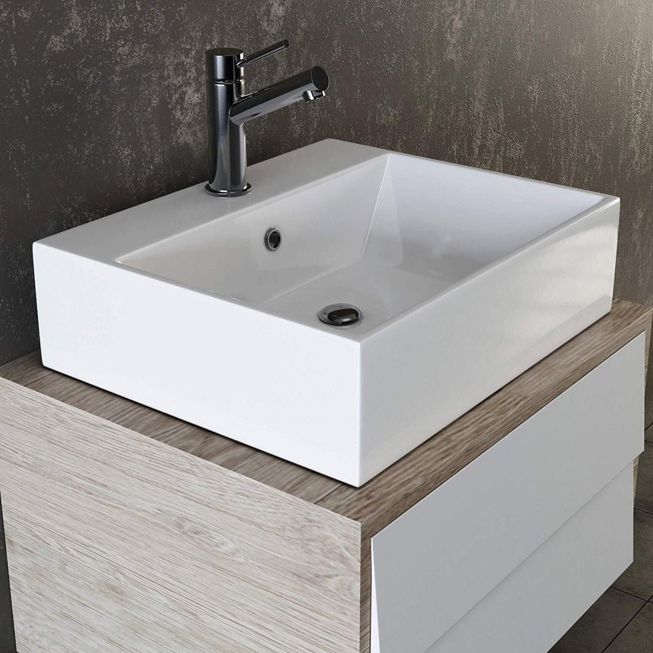Kleines Waschbecken  Dekorationen Stilvolle Kleines Waschbecken Mit von Kleines Waschbecken Ohne Hahnloch Bild