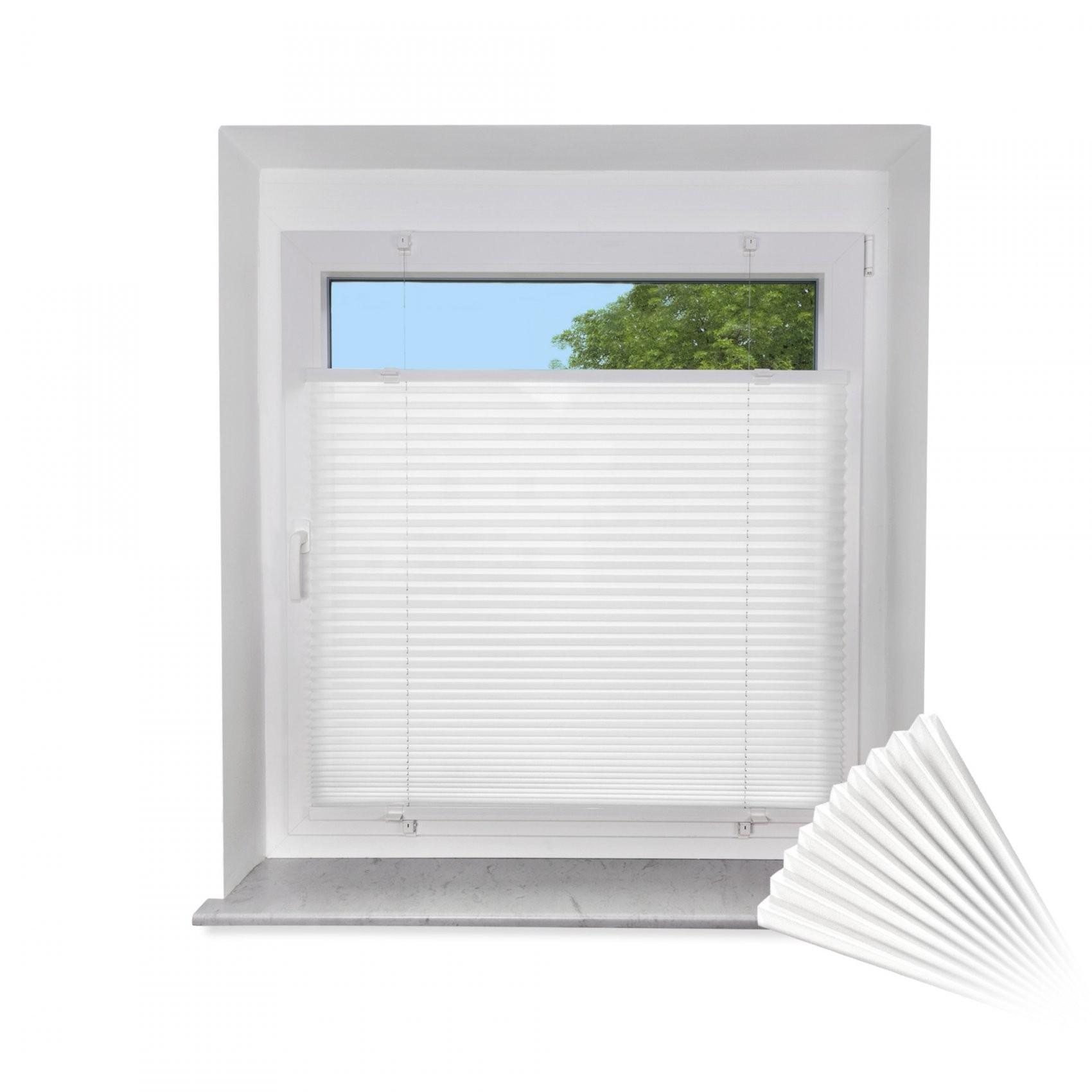 Klemmfix Plissee Für Fenster & Türe Faltrollo Rollo Sichtschutz Ink von Fenster Rollos Günstig Photo