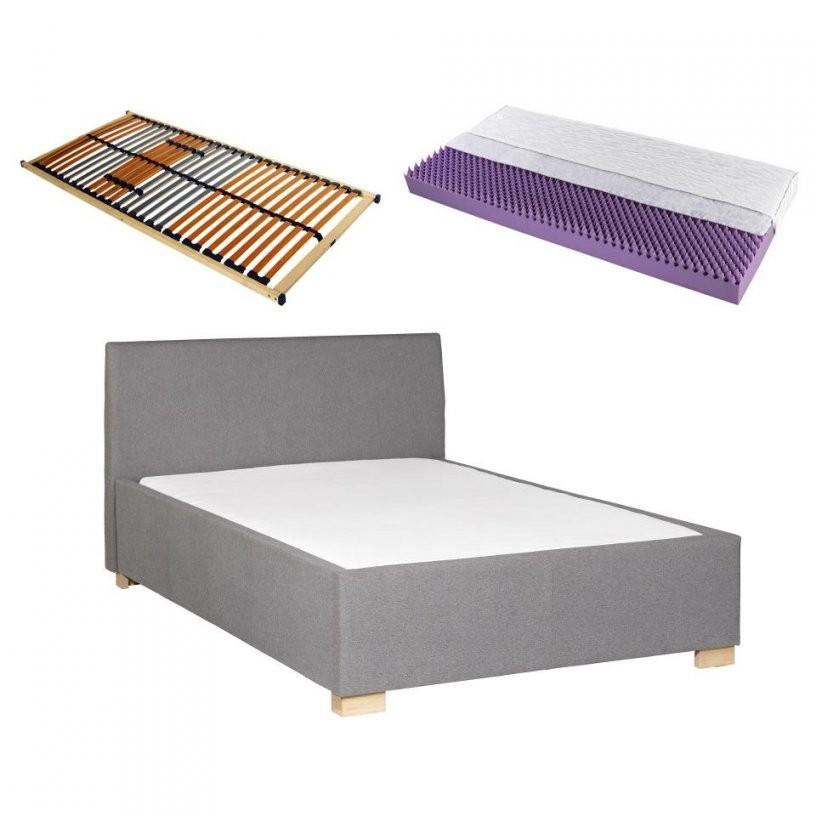 Komplettbett (140X200 Grau) (Inkl Lattenrost & Matratze von Bett Inklusive Lattenrost Und Matratze Bild