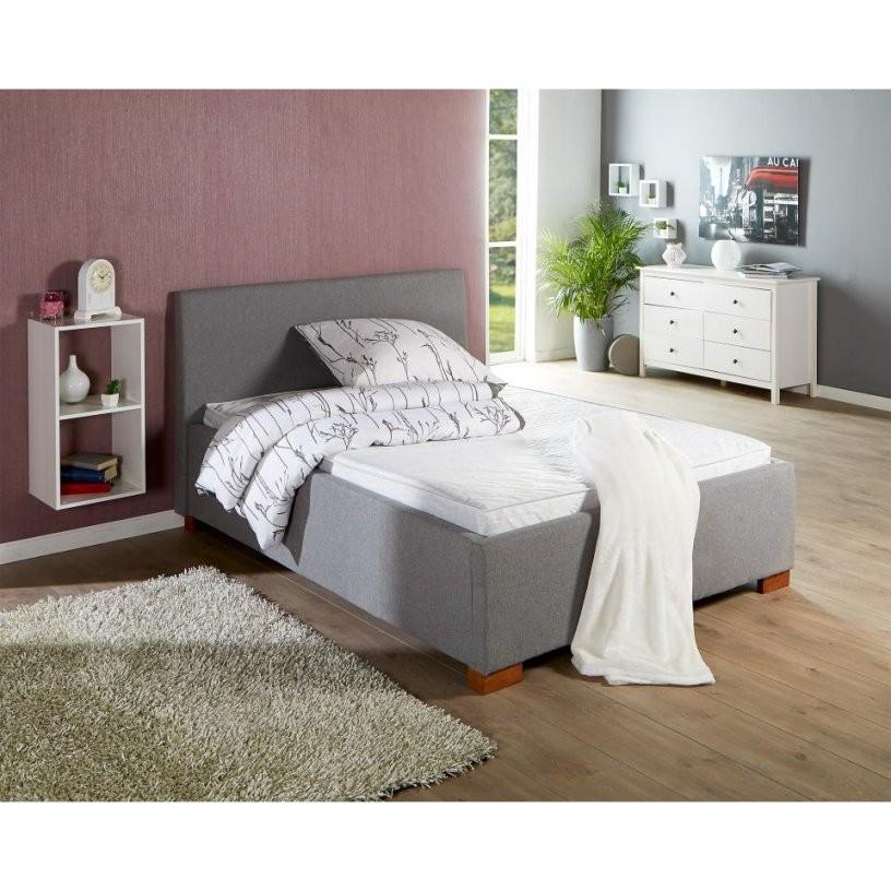 Komplettbett Sara (180X200 Grau Inkl Lattenrost & Matratze von Betten Komplett Mit Matratze Und Lattenrost Bild