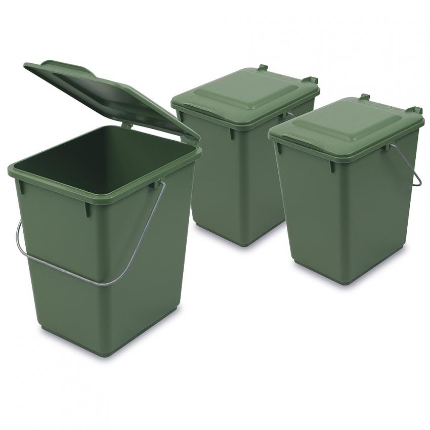 Komposteimer (Bio Mülleimer) Für Biomüll In Der Küche (10 L) Grün von Bio Mülleimer Küche Bild