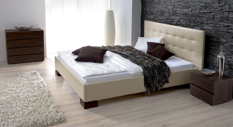 Kunstleder Bett In Überlänge Erhältlich  Bett Ruby von Kunstleder Bett Weiß 140X200 Bild