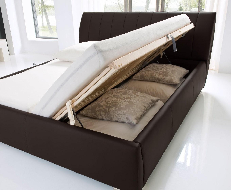 Kunstlederbett Mit Bettkasten Und Lattenrost  Lewdown von Französische Betten Mit Bettkasten Bild