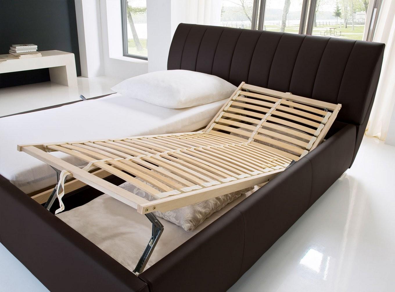 Kunstlederbett Mit Bettkasten Und Lattenrost  Lewdown von Günstige Betten Mit Lattenrost Und Matratze 180X200 Photo