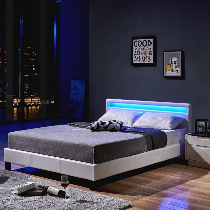 Led Bett Astro 140 X 200 Weiß von Bett Weiß 140X200 Mit Lattenrost Und Matratze Bild