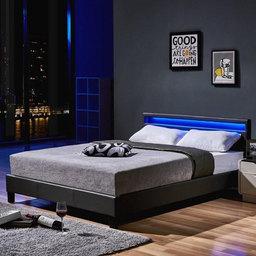 Led Bett Astro 160 X 200 Dunkelgrau Klassisches Bett  Real von Bett Mit Led Beleuchtung 160X200 Bild