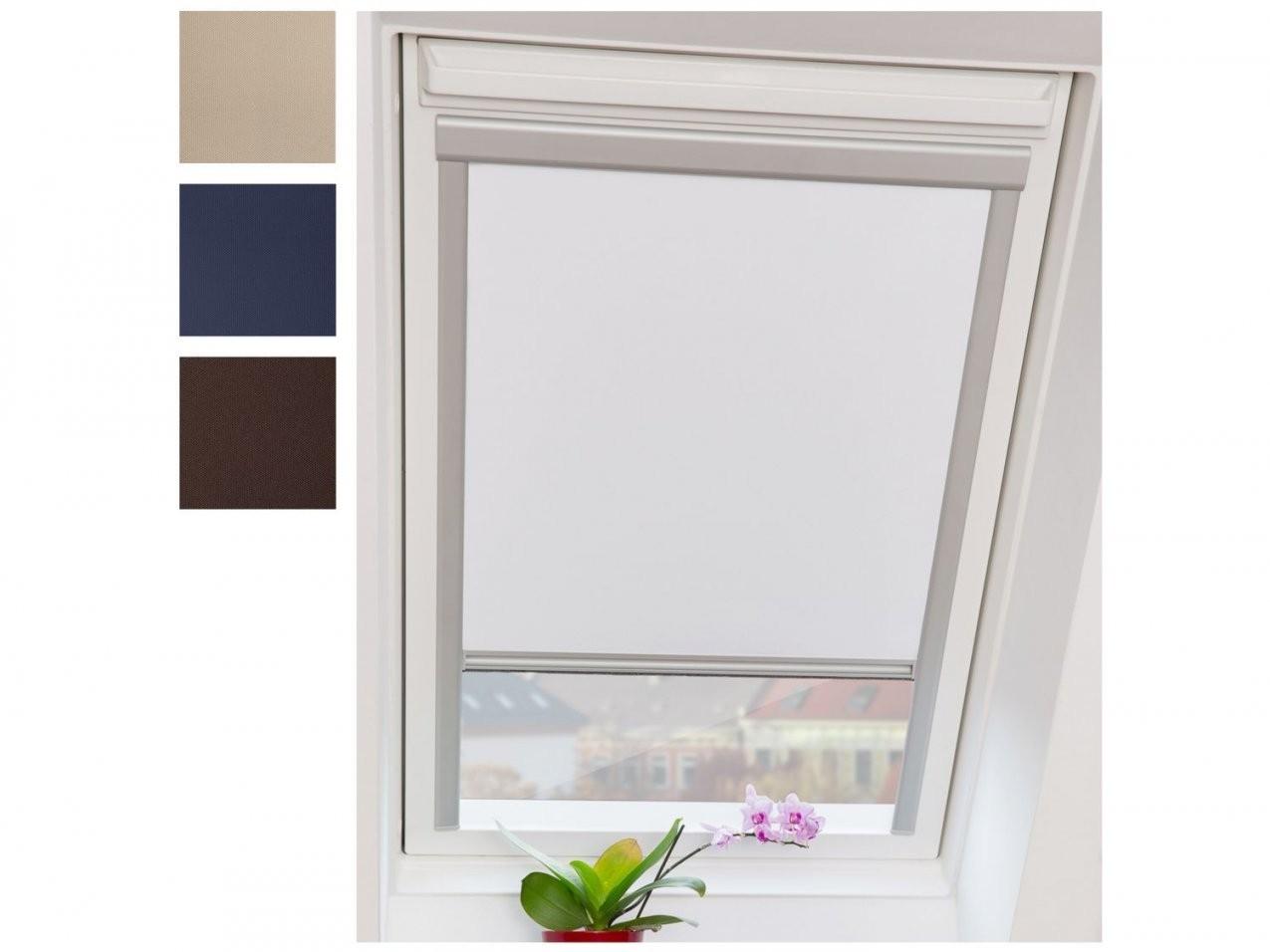 Lichtblick Dachfensterrollo Skylight Thermo Verdunkelung  Lidl von Günstige Rollos Für Fenster Bild