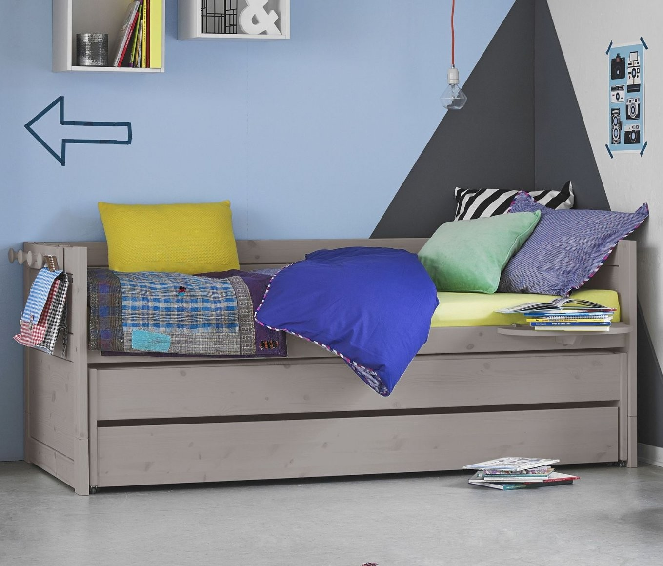 Lifetime Kojenausziehbett 2 Liegeflächen + Schublade  Original von Bett Zum Ausziehen Mit Schubladen Photo