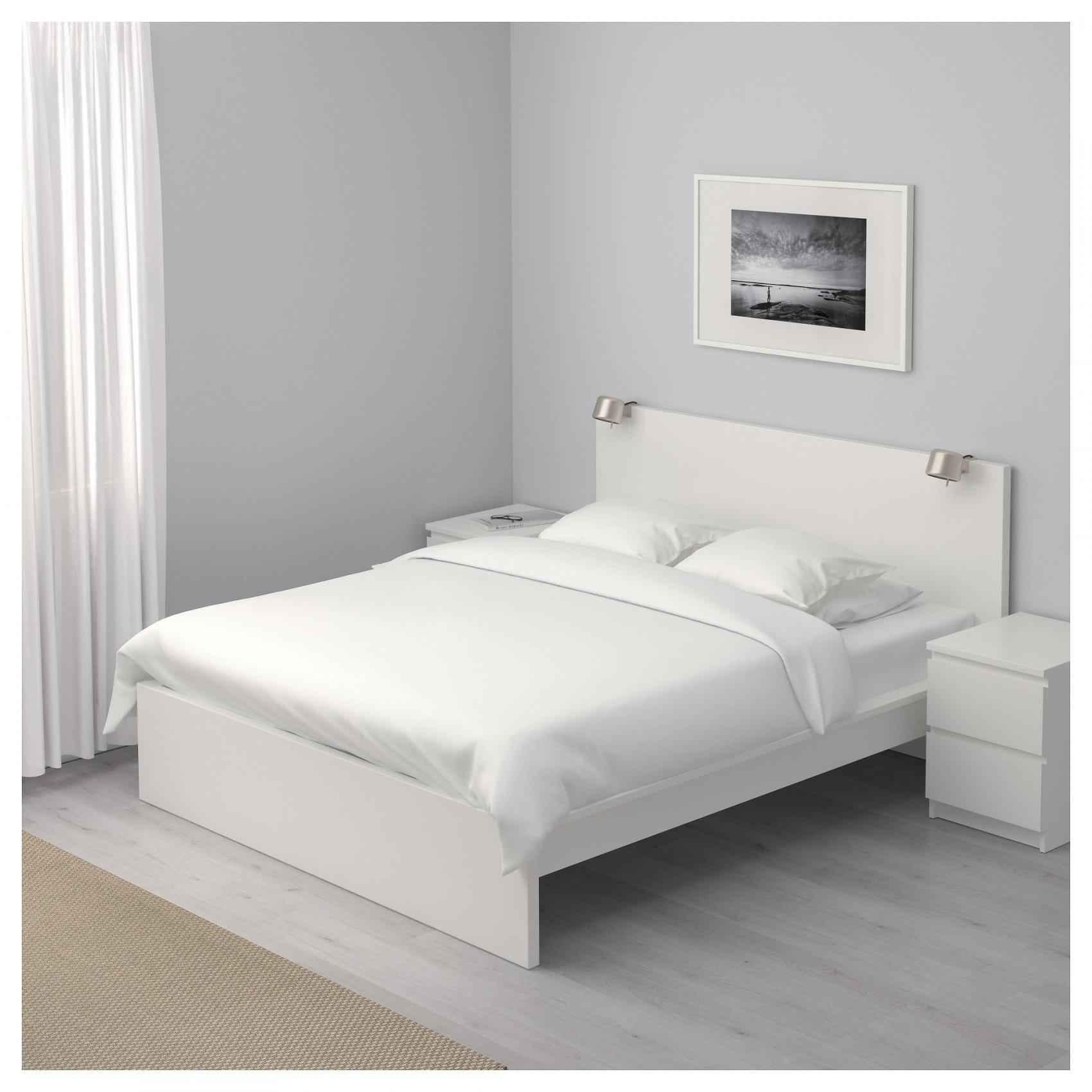 Malm Bettgestell Hoch  140X200 Cm  Weiß  Ikea von Ikea Bett 140X200 Holz Weiß Bild