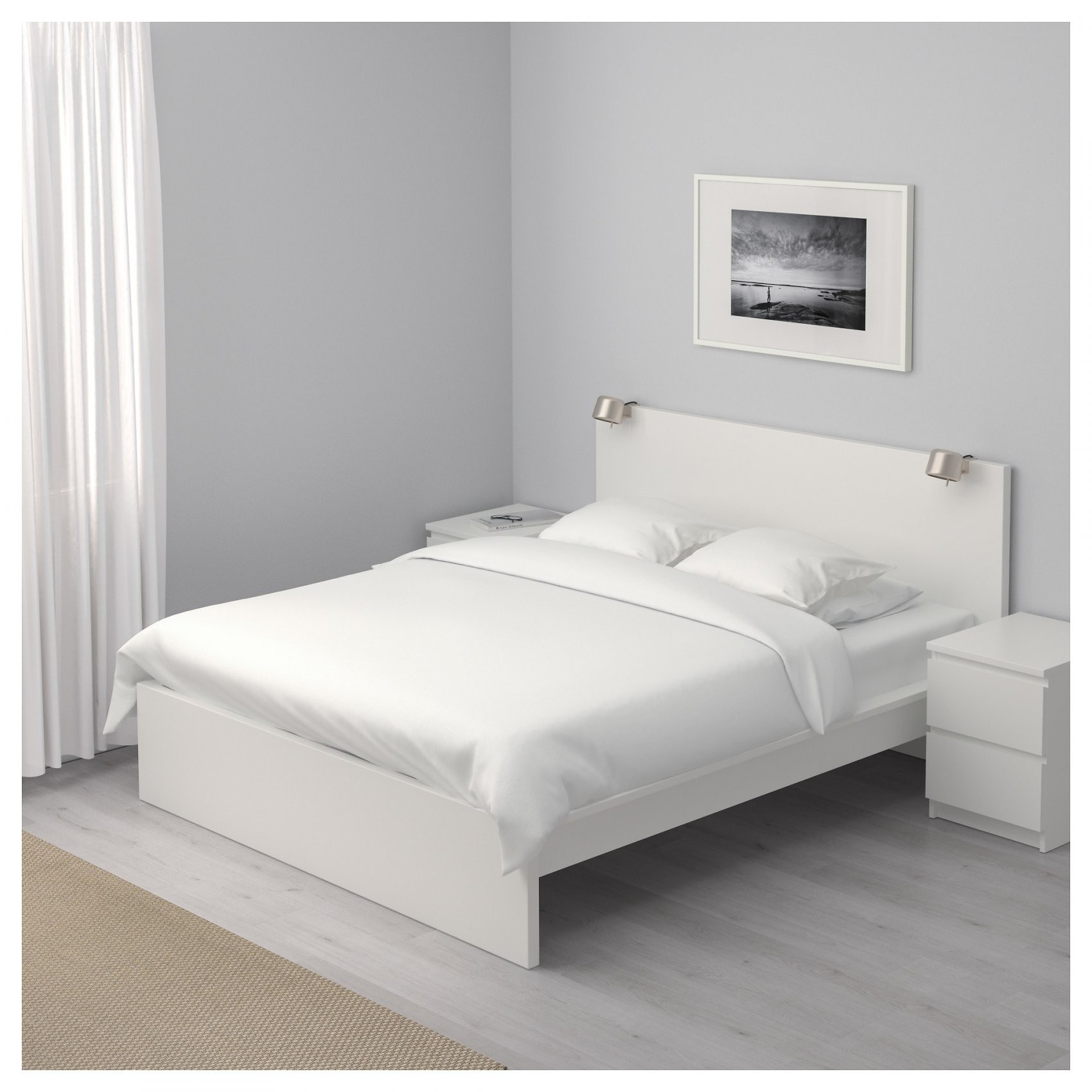 Malm Bettgestell Hoch  140X200 Cm  Weiß  Ikea von Ikea Malm Bett 140X200 Weiß Photo