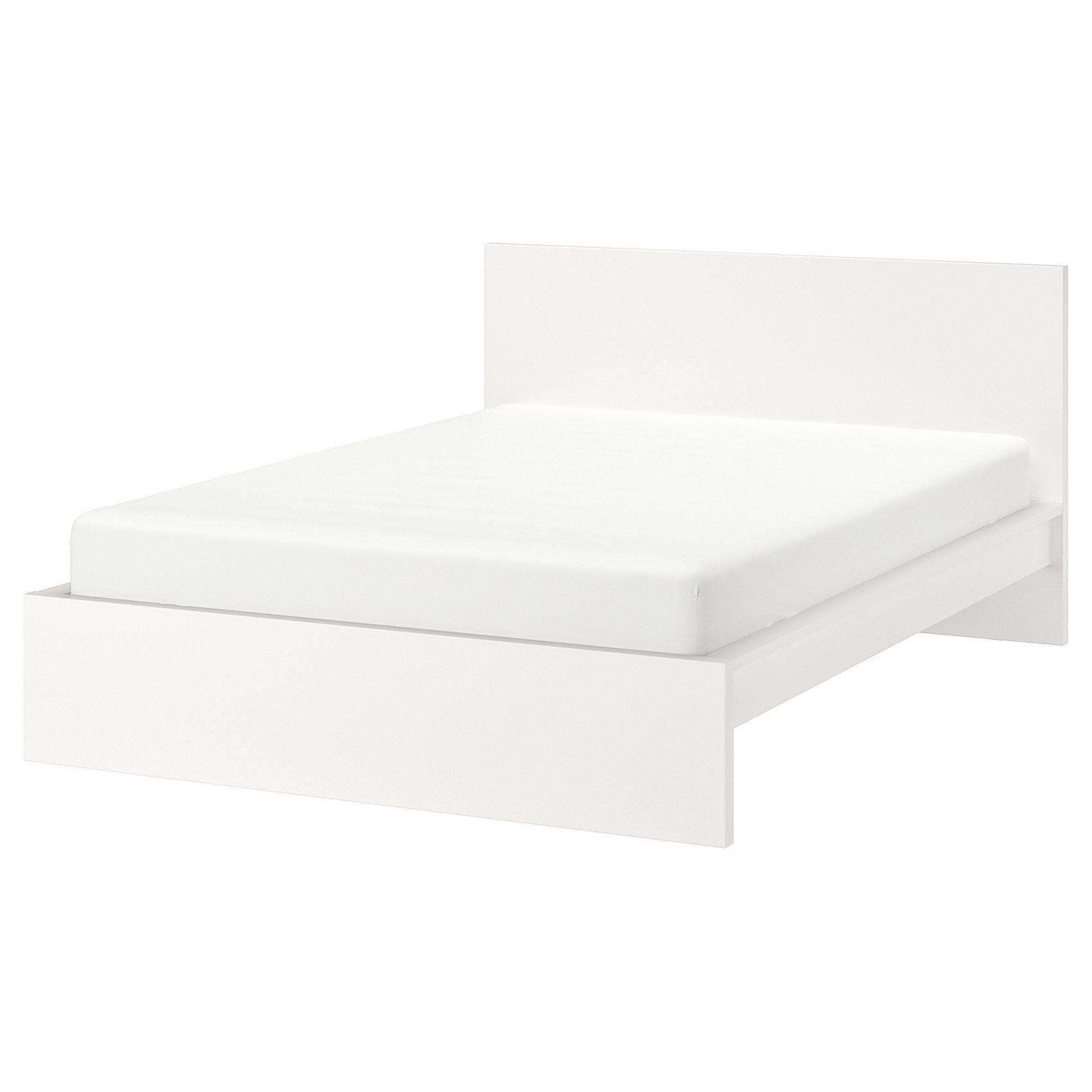 Malm Bettgestell Hoch  180X200 Cm  Weiß  Ikea von Ikea Bett Weiß 180X200 Photo