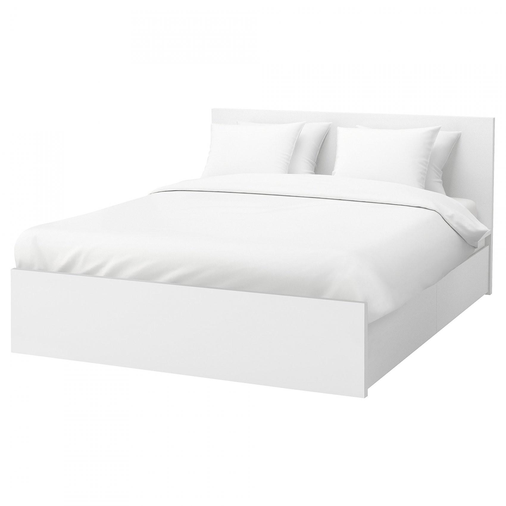 Malm Bettgestell Hoch Mit 4 Schubladen  Weiß  Ikea von Ikea Bett 140X200 Mit Schubladen Bild