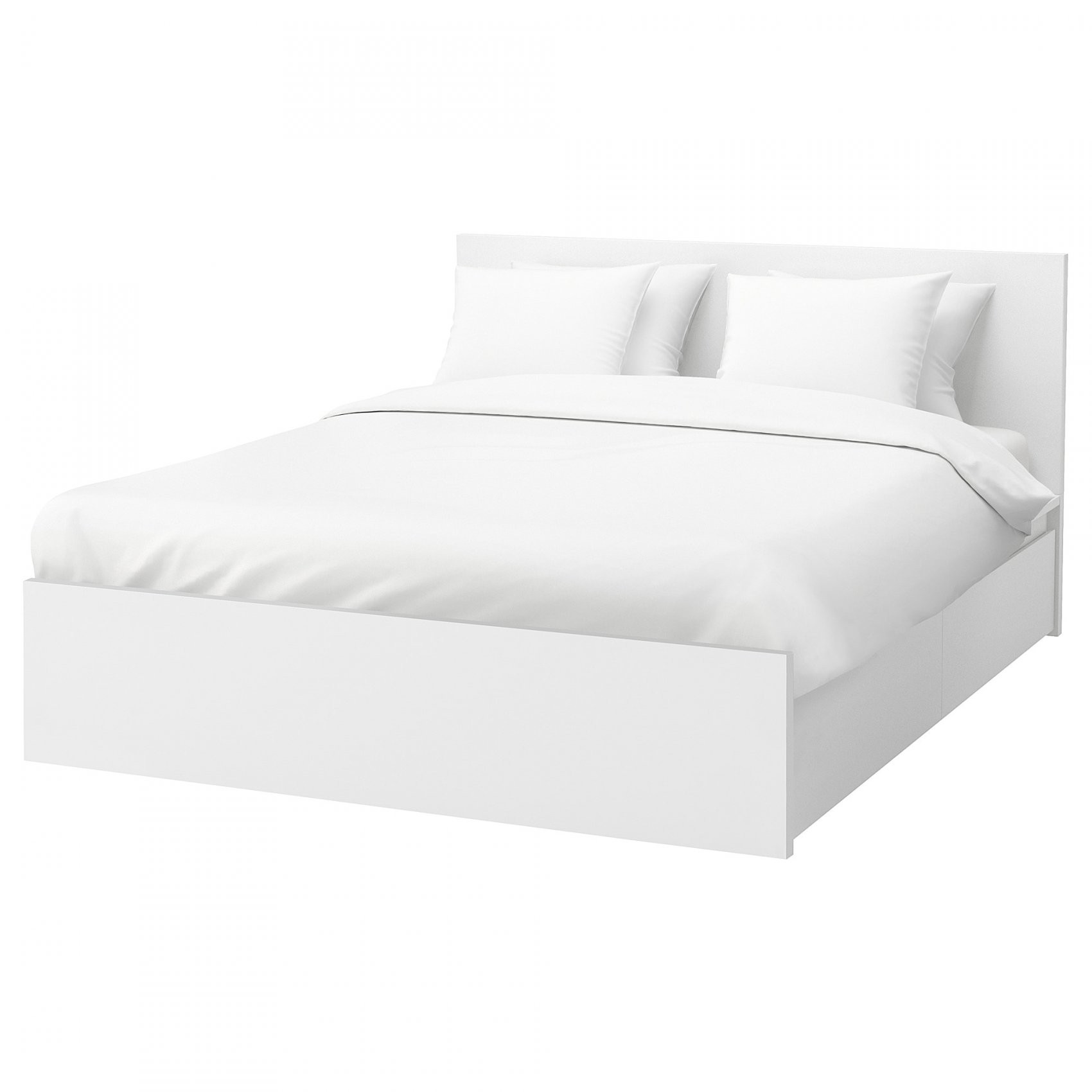 Malm Bettgestell Hoch Mit 4 Schubladen  Weiß  Ikea von Ikea Bett Weiß Mit Schubladen Bild