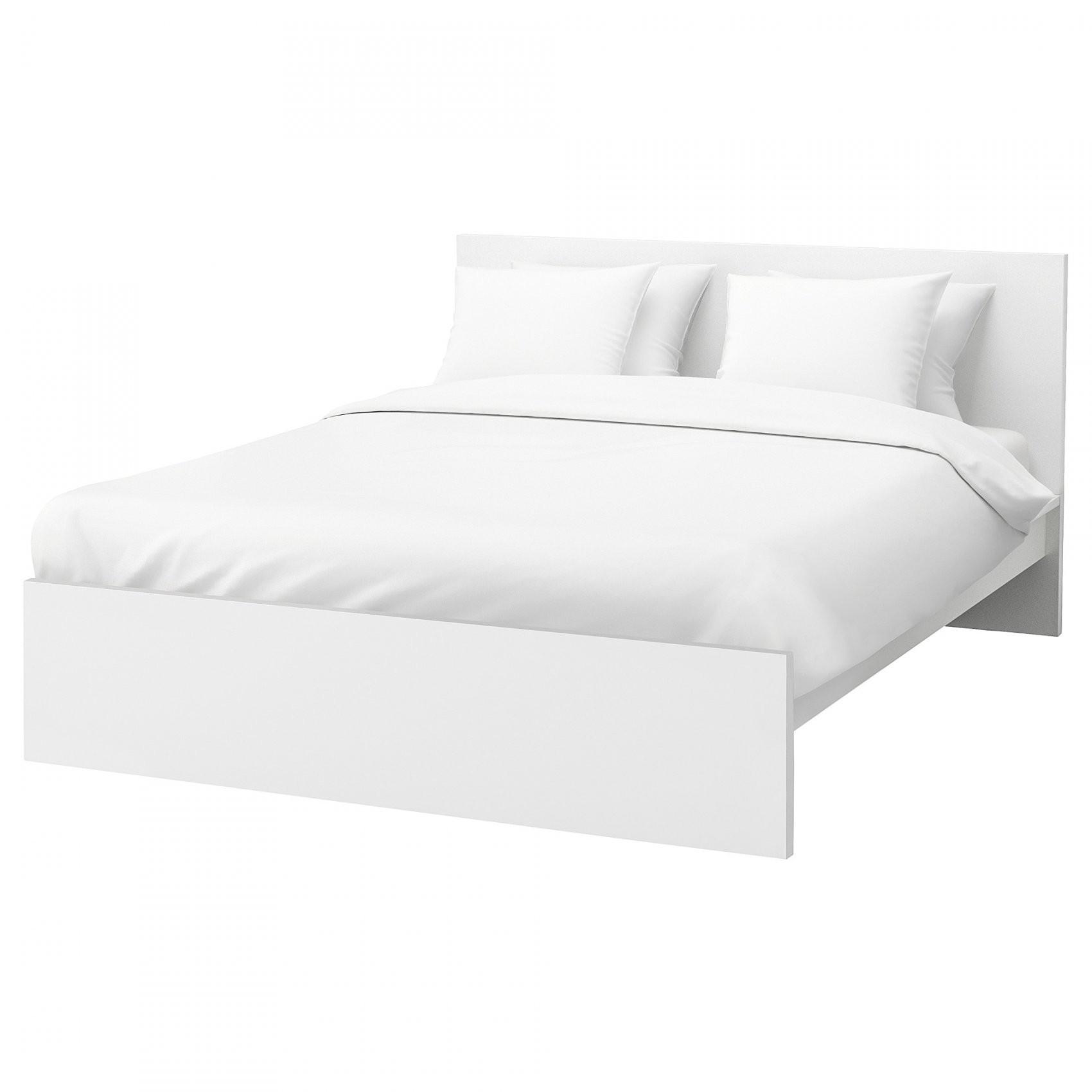 Malm Bettgestell Hoch  Weiß  Ikea von Ikea Bett Weiß 180X200 Bild