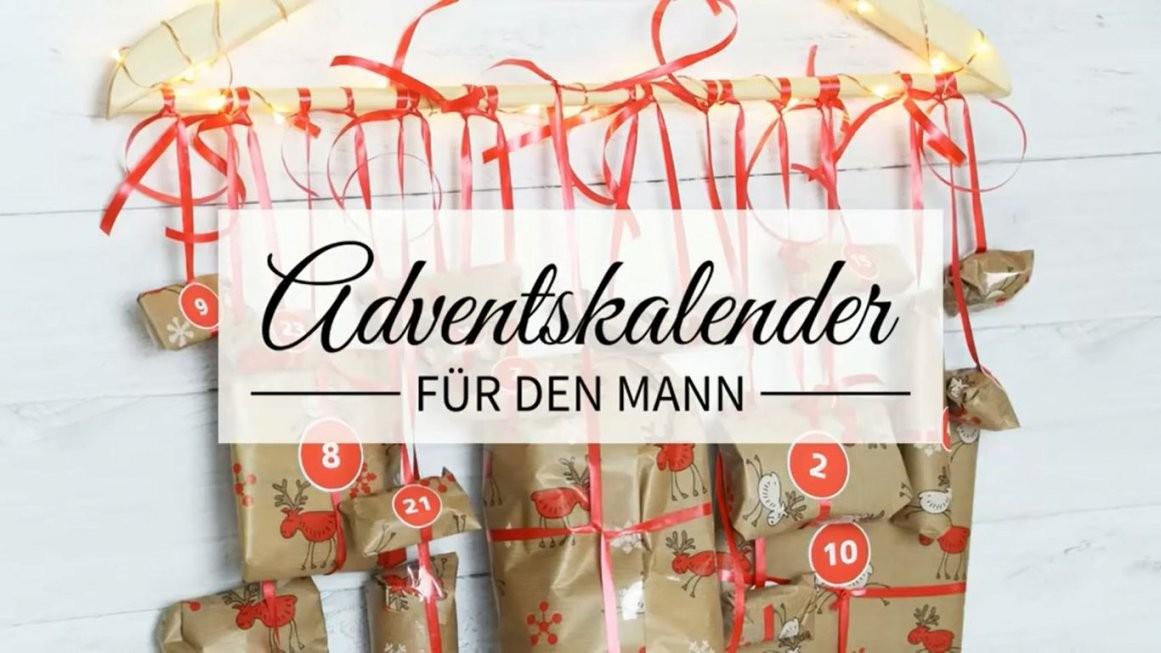 Männer Adventskalender Zum Selber Basteln  Bastel Und Video Anleitung von Adventskalender Selber Machen Inhalt Photo