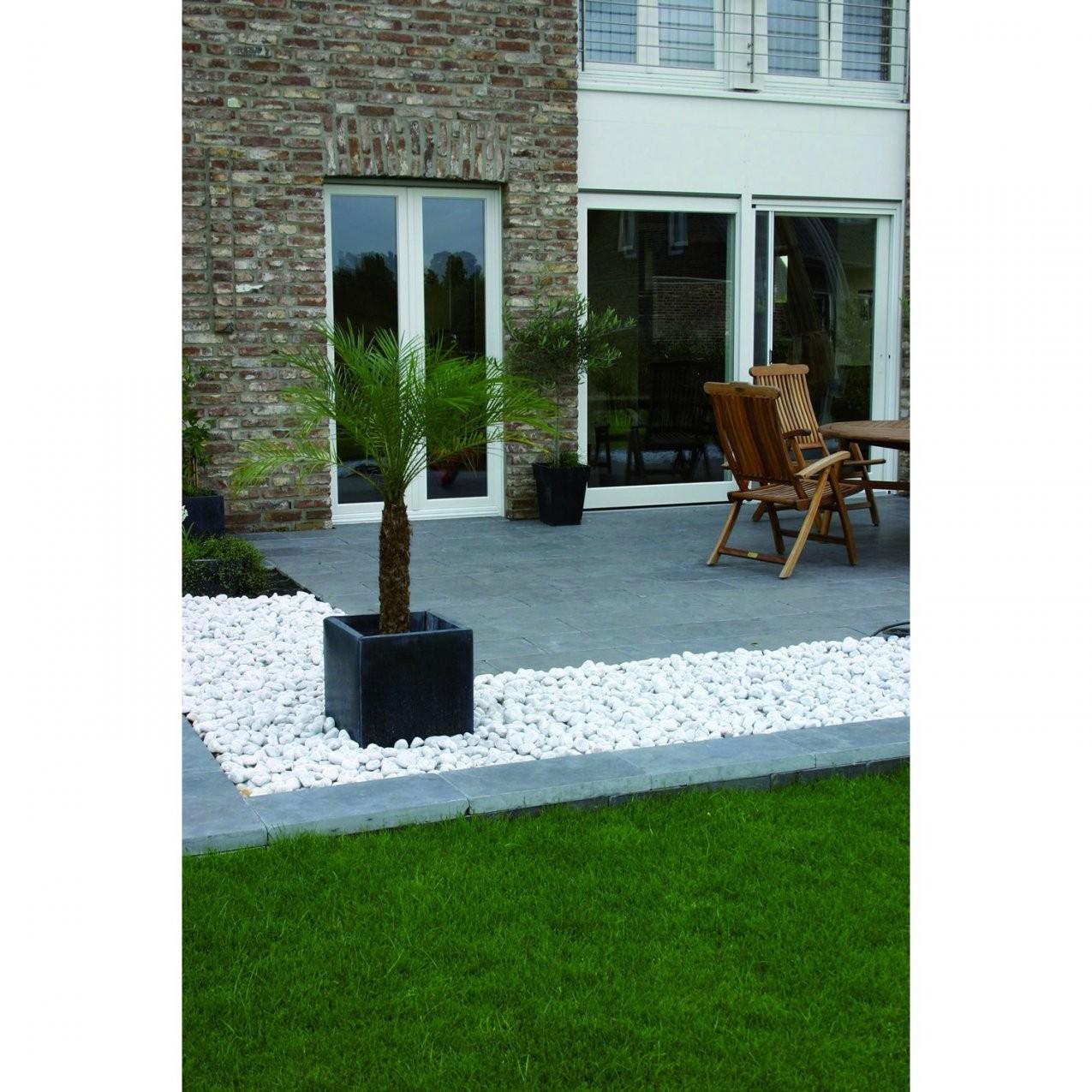 Weiße Steine Garten | Haus Bauen